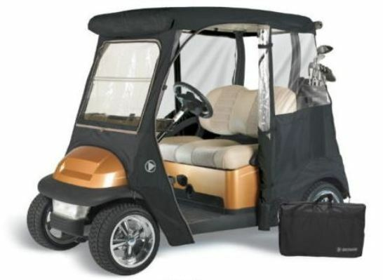 Custom drivable 2 person golf cart enclosure cover for for Advanced motors and drives golf cart