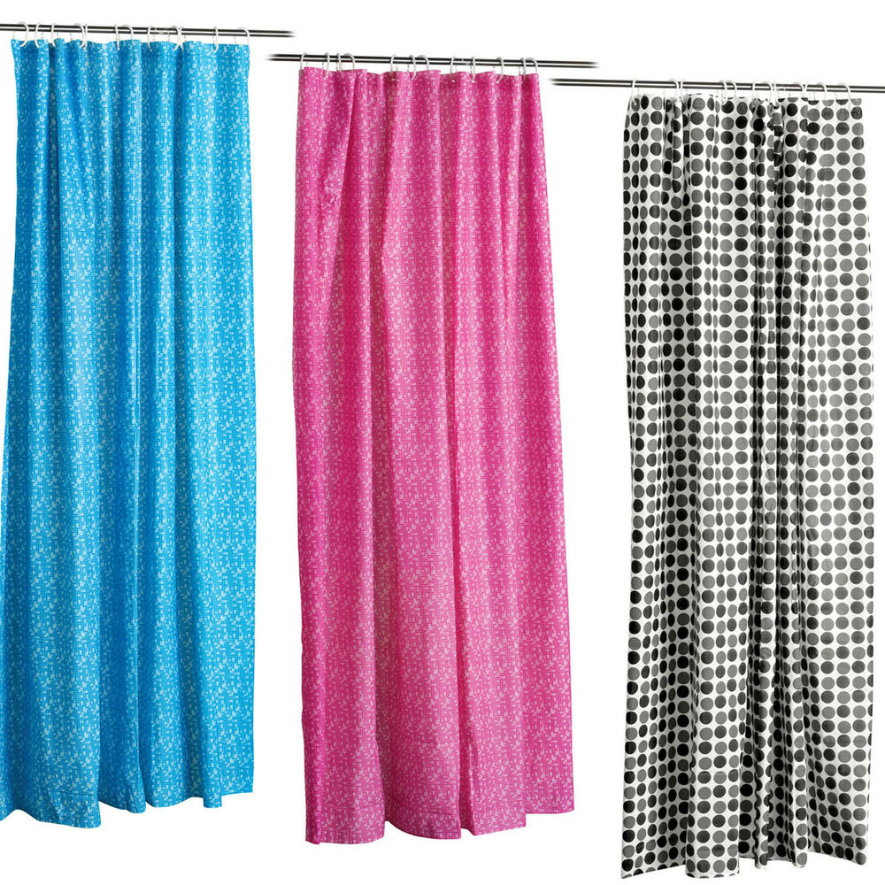 Shower Curtains High Quality 3 Designs Colours New Ebay