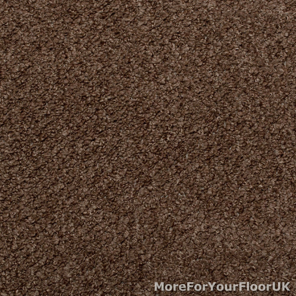 Brown carpet hardwearing stain resistant berber loop pile for Cheap cheap carpet
