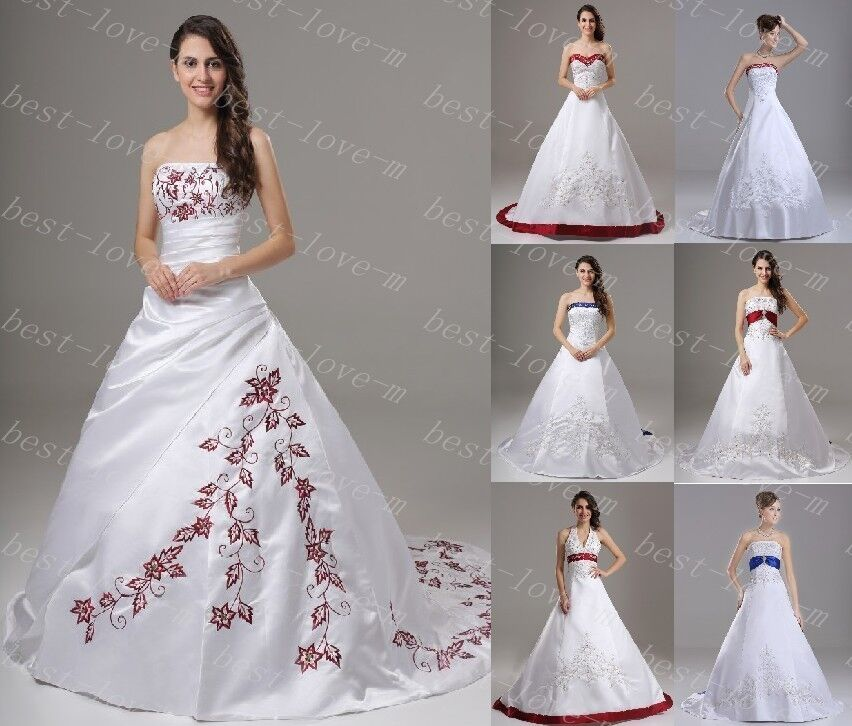 New stock wedding dress bridal gown bridesmaid dress size for Ebay wedding dresses size 12