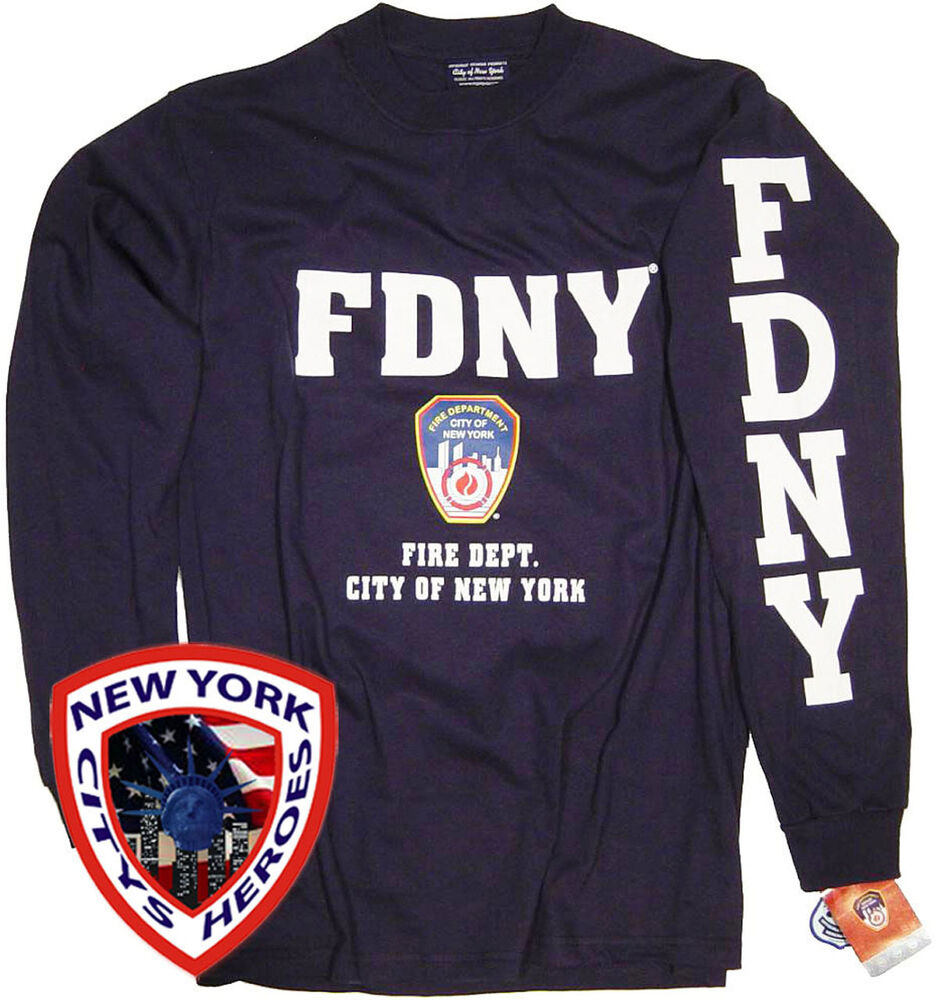 FDNY T-Shirt Long Sleeve Officially Licensed By New York ...