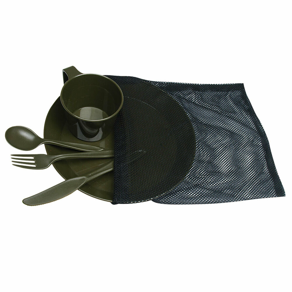 Camp Set Oliv 1 Person Camping Outdoor Geschirr Teller