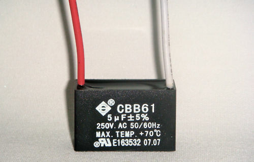 Ceiling Fan Capacitor Cbb61 5uf 2 Wire Ebay