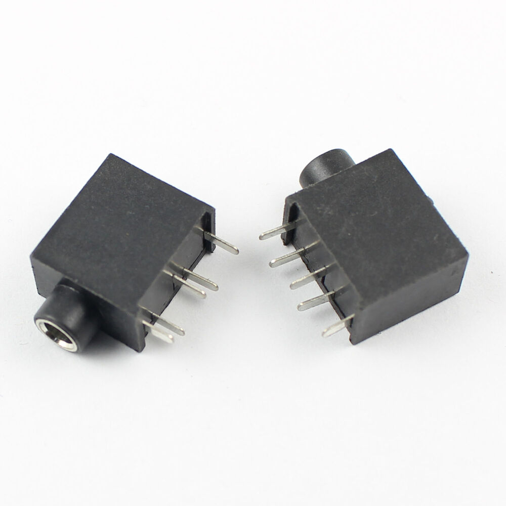 Pcs mm female audio connector pin dip stereo