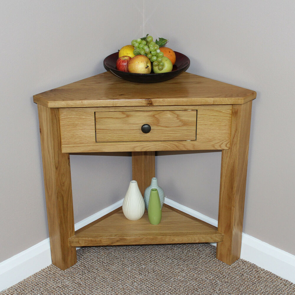 Oak Corner Consol Table Plant Stand Lamp Occasional Hallway Livingroom Dinning Ebay