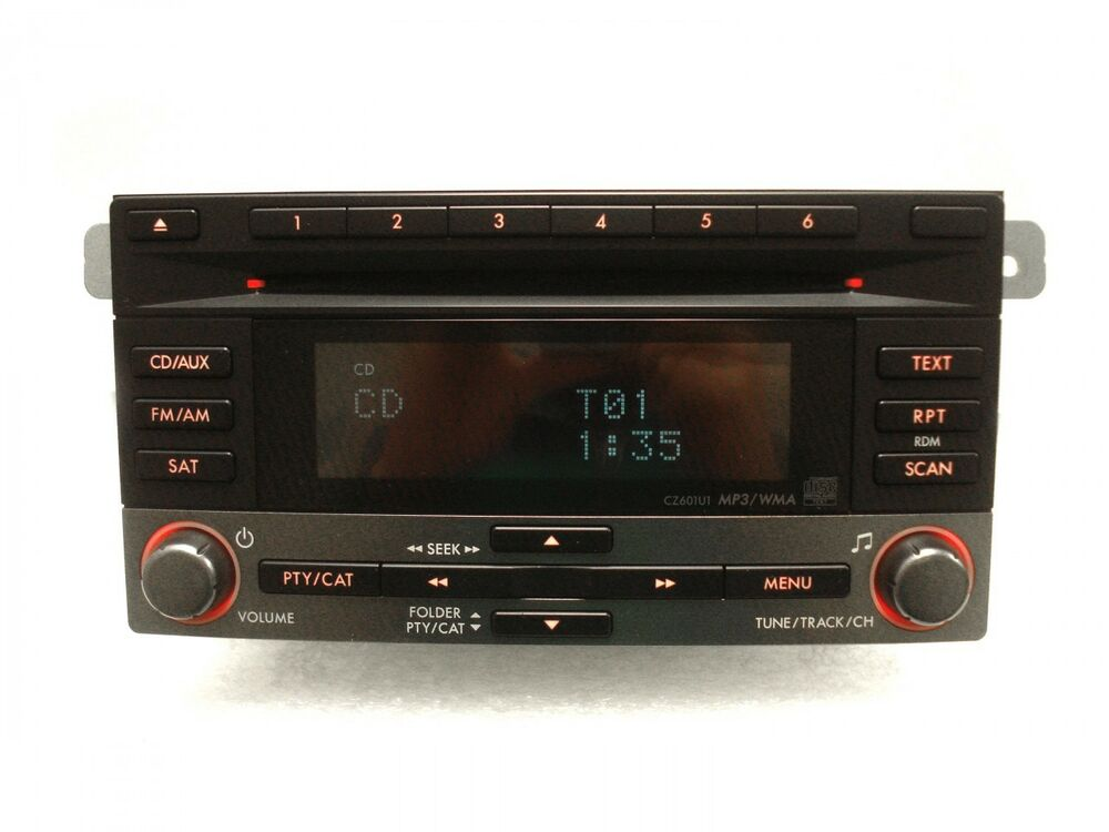 09 10 11 subaru forester impreza radio cd player mp3 sat aux 86201 fg600 ebay. Black Bedroom Furniture Sets. Home Design Ideas