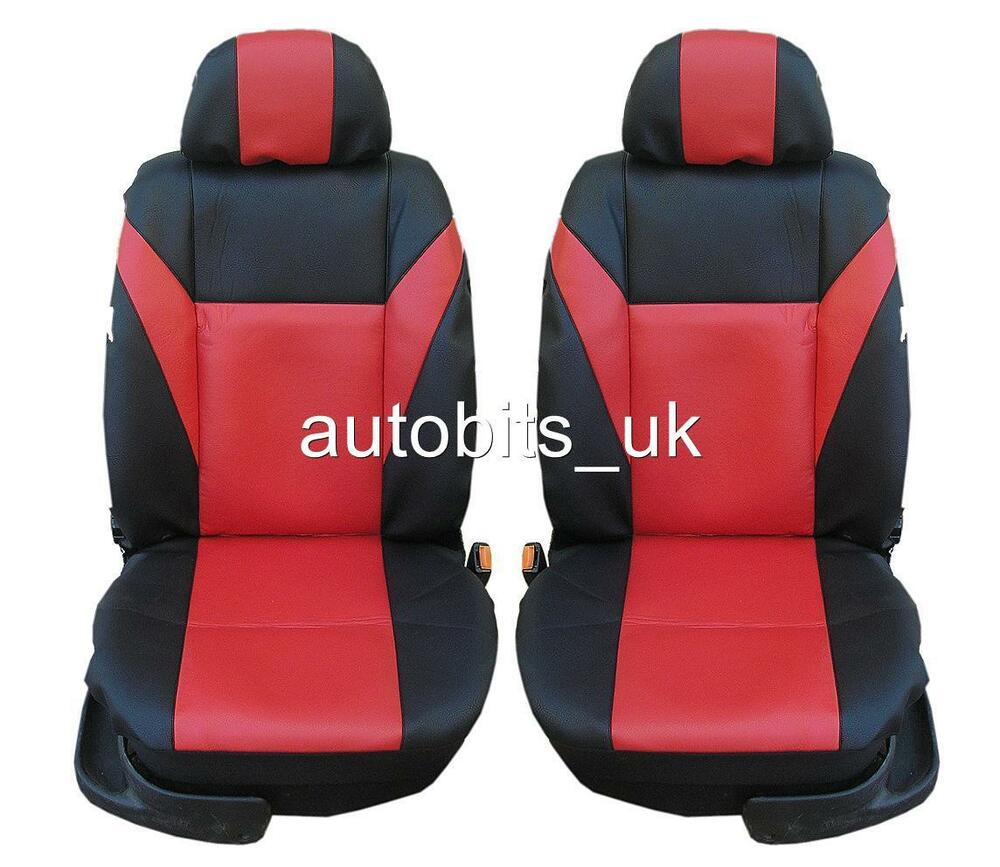 1 1 red premium leather seat covers for vw transporter t4 for Housse siege transporter t5