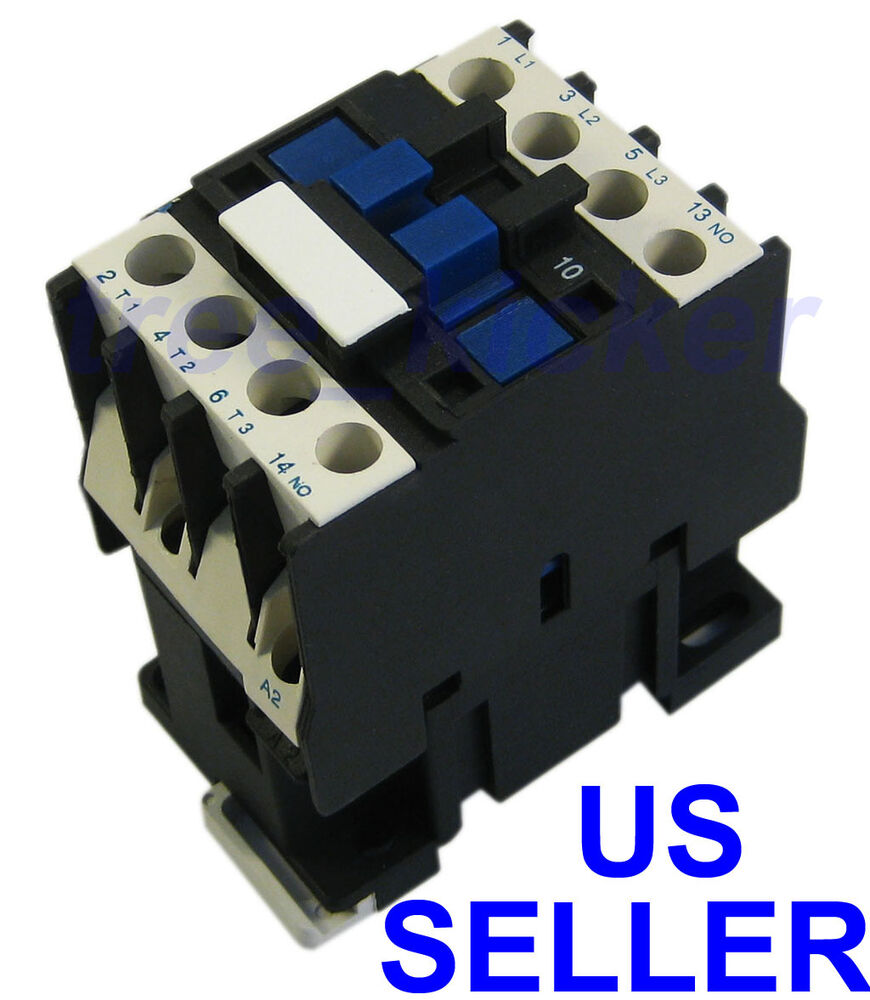 New ac contactor motor starter relay 3 phase pole 18a up for Three phase motor starter