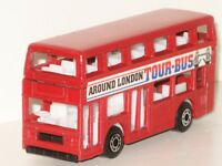Matchbox 1981 Leyland Titan London Tour Bus Red Double Decker Vintage Model Mint