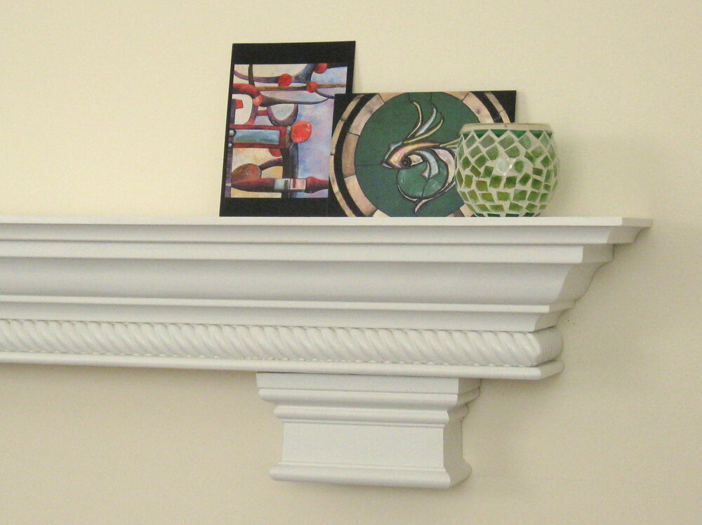 Custom Shelf Fireplace Mantel Corbels Rope Molding