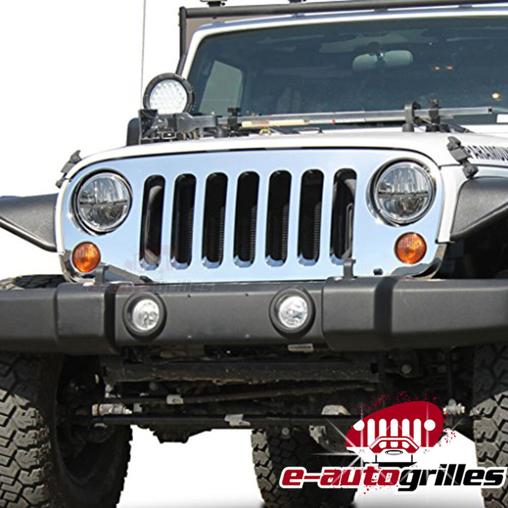 07-17 Jeep JK Wrangler ABS Chrome Full Replacement Grille