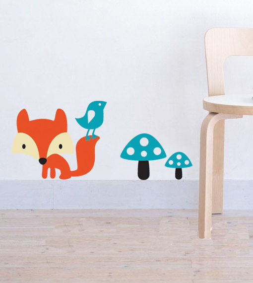 Removable Cute Fox Mushrooms Bird Nature Vinyl Wall Decal Art Sticker Q518 Ebay