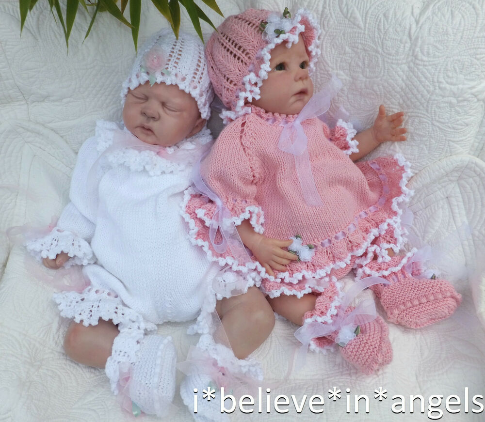 Reborn Baby Knitting Patterns : KNITTING PATTERN TO MAKE *COCO* 4 PIECE ROMPER/ANGEL SET FOR BABY OR REBORN D...
