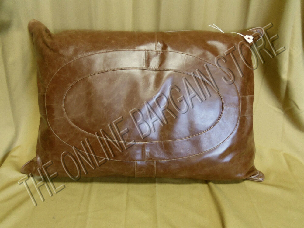 Throw Pillows For Leather Sofas : Frontgate Griffith Indoor Leather Sofa Chair Throw Pillow Oblong 21x30 eBay
