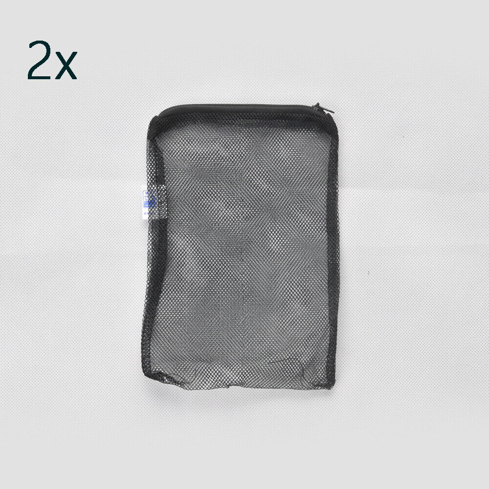 3 pcs filter media bags 8 x 5 5 zipper reusable aquarium for Fish pond filter mesh