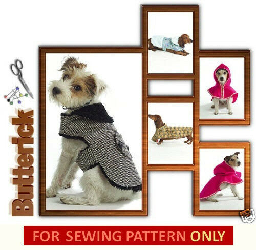 dog coat template - sewing pattern make dog coats extra small to large size