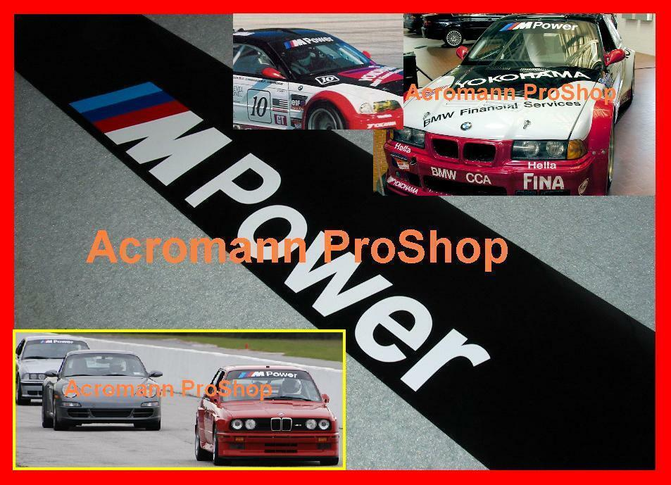 53inch M Power Windshield Sunstrip Decal Sticker Bmw M3 M5