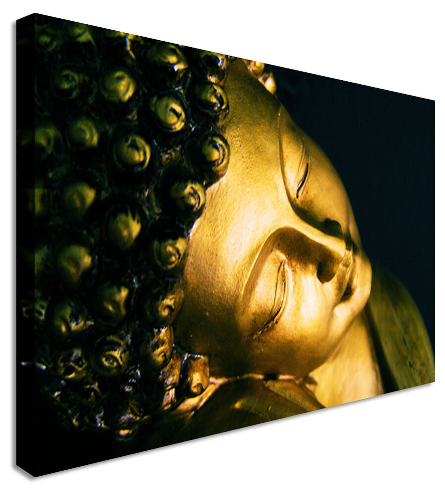 Large Smiling Buddha Indian Canvas Wall Art Print | eBay