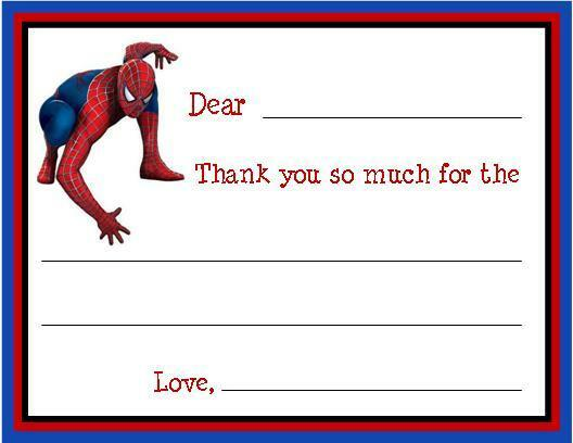 Spiderman FILL IN ~ Custom Thank You or Note Cards | eBay