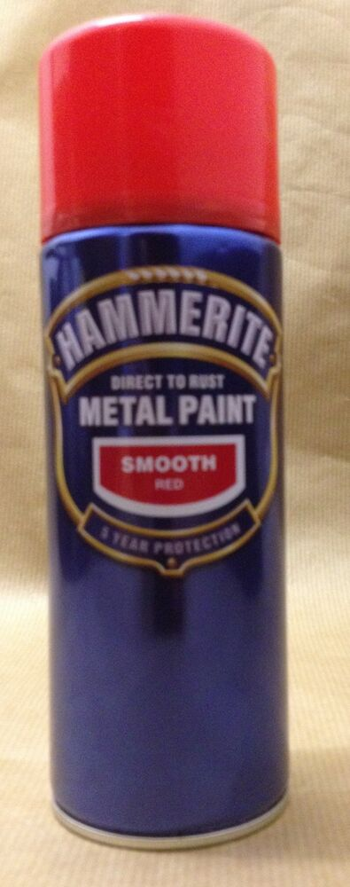 Hammerite Direct to rust metal spray paint smooth 400ml ...