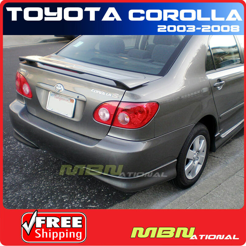03 08 toyota corolla 4dr sedan rear tail trunk wing. Black Bedroom Furniture Sets. Home Design Ideas