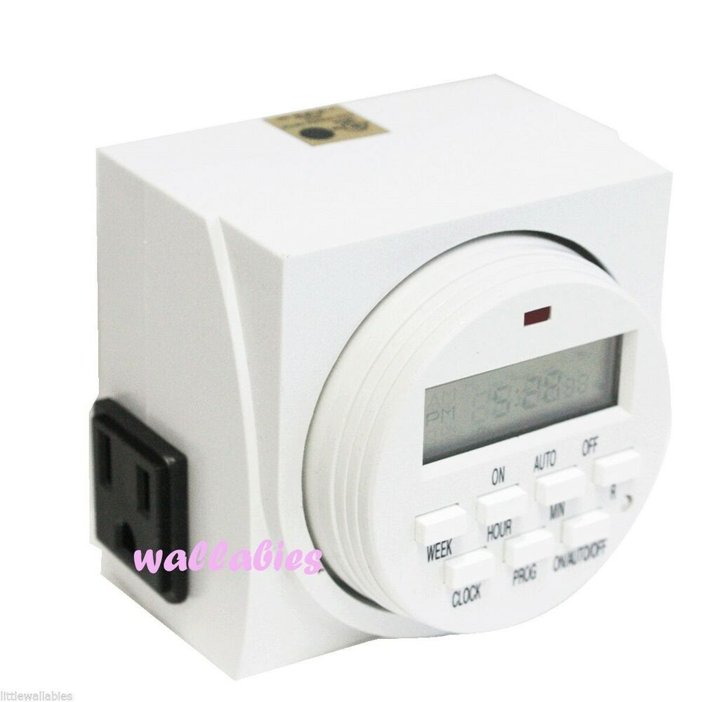 Light Controller With Timer: UL Electric Digital 7 Days Timer Duel Plug In Outlet Grow
