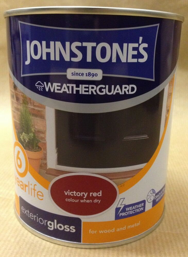 Johnstones Weatherguard Exterior Gloss Paint For Wood Metal 750ml 2 5l Ebay