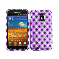 Saints On Purple Phone Hard Cover Samsung Galaxy S 2 II Epic Touch 4G D710 Case