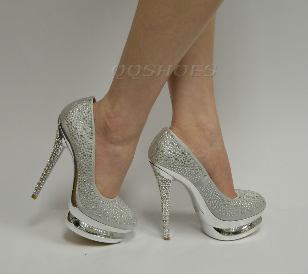 irena 16 studded rhinestone high heel party pump ebay. Black Bedroom Furniture Sets. Home Design Ideas