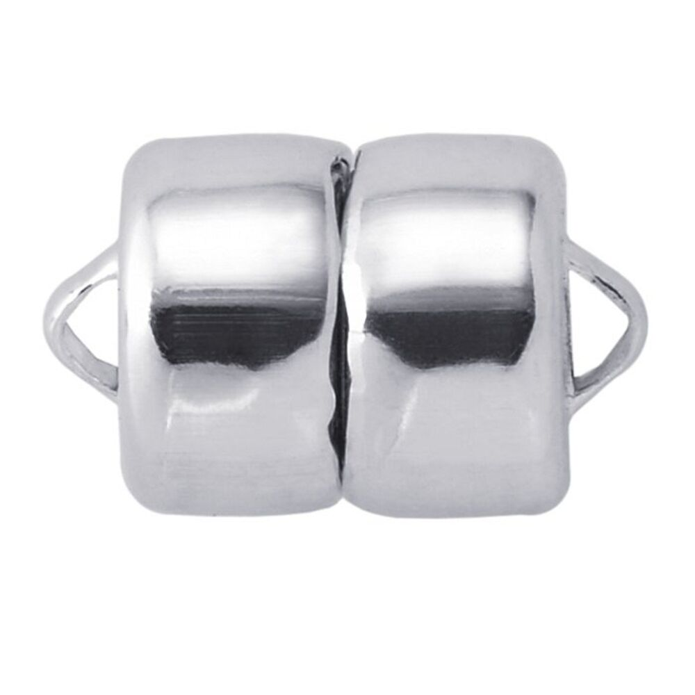 Sterling Silver Magnetic Rounded Clasp Converter For