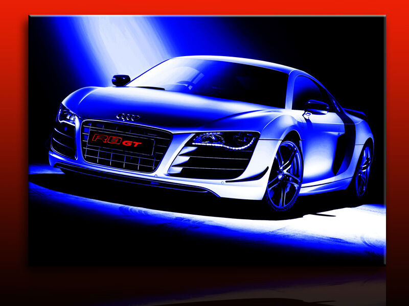 audi r8 bild auf leinwand kunstdrucke wandbilder. Black Bedroom Furniture Sets. Home Design Ideas