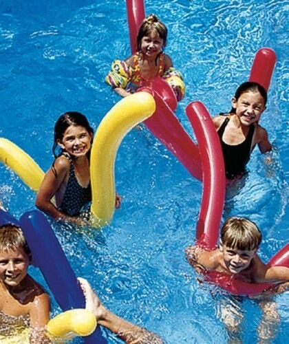 6 Pk Doodles Inflatable Pool Float Noodles Toy Learn To Swim Water Aerobics 9008 691043584147 Ebay