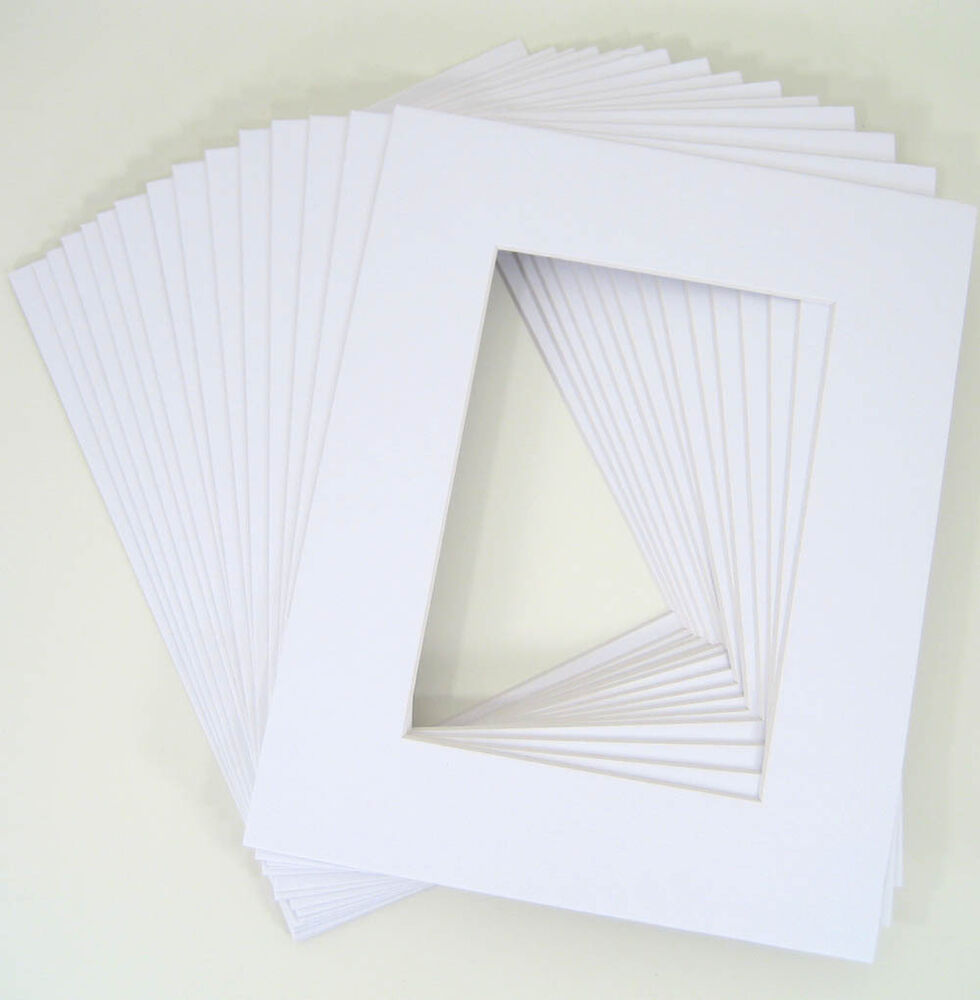 Pack Of 50 White 16x20 Mats For 12x18 Photo Backing