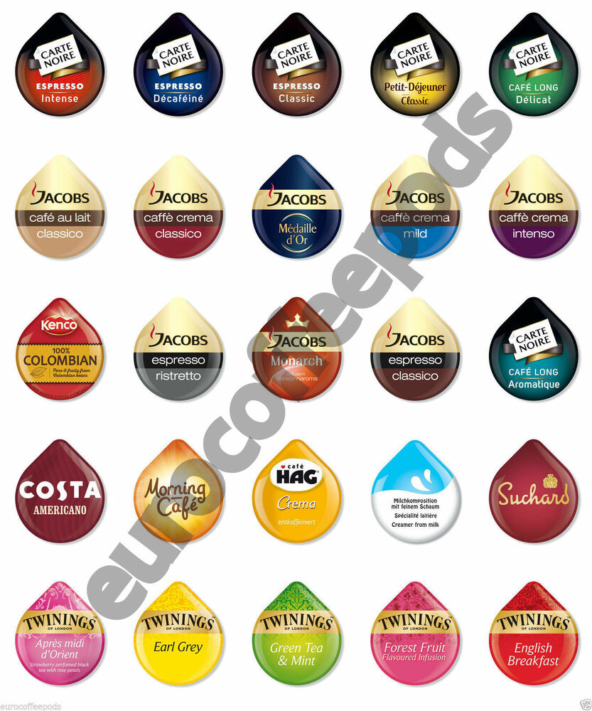 tassimo coffee 8 x t discs pods capsules 28 flavours to choose from ebay. Black Bedroom Furniture Sets. Home Design Ideas