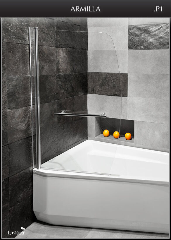 luxshower armilla p 90x140 trennwand badewanne. Black Bedroom Furniture Sets. Home Design Ideas
