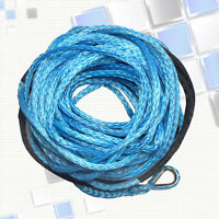 10mm x 30m BLUE DYNEEMA SK-75 SYNTHETIC WINCH ROPE CABLE 4WD Recovery Off Road