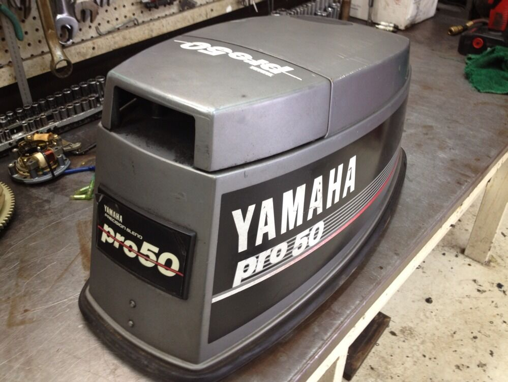 1989 pro 50 hp yamaha 2 stroke outboard top cowl hood for Yamaha 100 hp outboard for sale