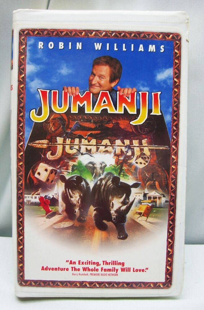 Sell Vhs Tapes >> JUMANJI Video VHS Clamshell Movie Robin Williams FREE SHIPPING! | eBay