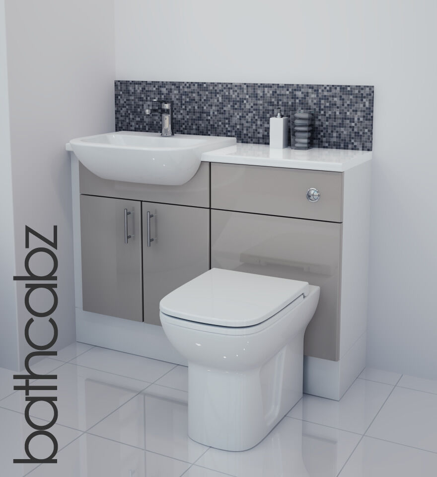Lastest  1500 Fitted Bathroom Furniture Pack Grey  JAX  Diamond Bathrooms
