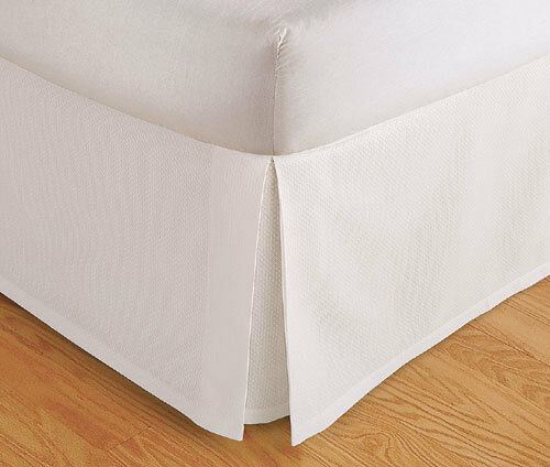 tailored bed skirt pleated dust ruffle 14 quot drop beige