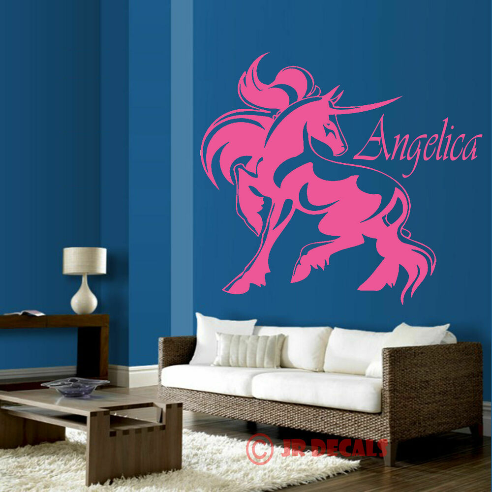 Unicorn Vinyl wall stickers nursery decal personalised ...
