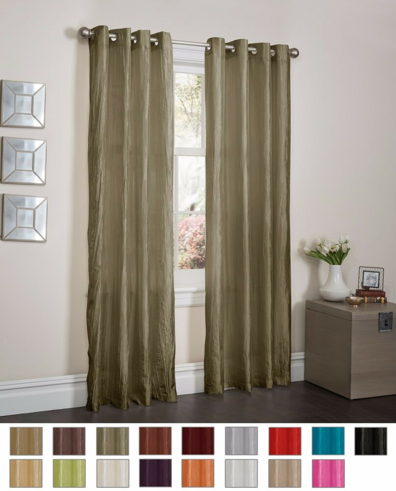 Sage Crushed Satin Window Curtain Panel With 8 Grommets