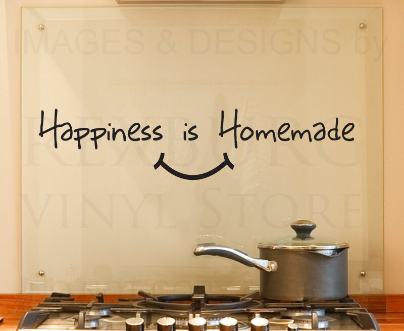 inspirational ideas for kitchen designs wall decor | Wall Decal Quote Vinyl Sticker Art Removable Happiness is ...