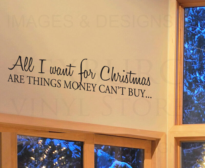 wall quote decal sticker vinyl lettering christmas things money cant buy c17 ebay