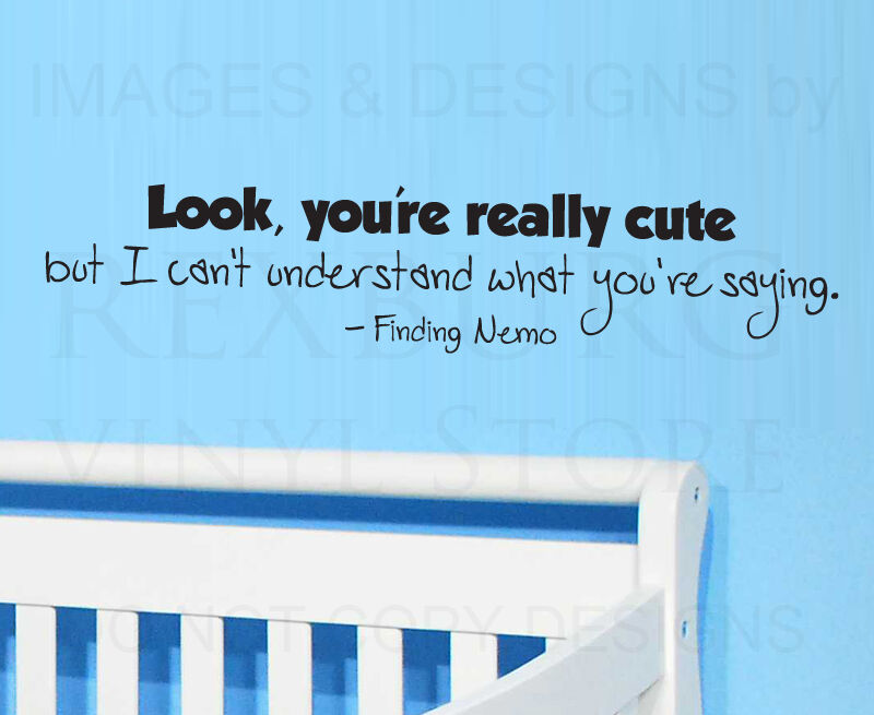 Wall decal art sticker quote vinyl removable lettering for Finding dory wall decals