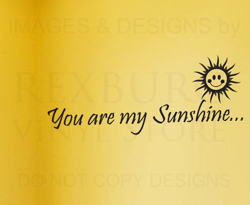 Wall Decal Sticker Quote Vinyl Art Letter You Are My