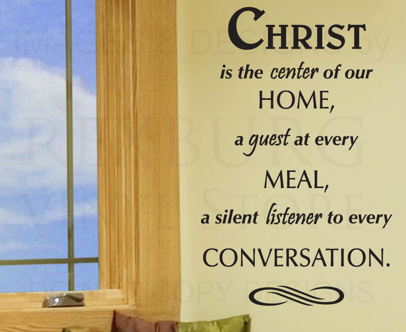 Wall Sticker Decal Quote Vinyl Art Christ The Center Of