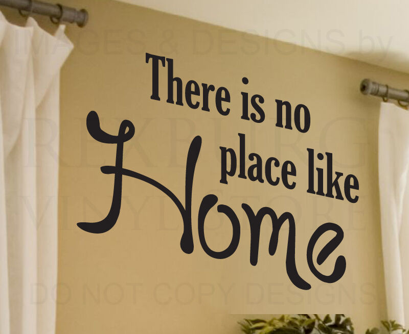Apartment Foyer Quotes : Wall decal sticker quote vinyl art large there s no place