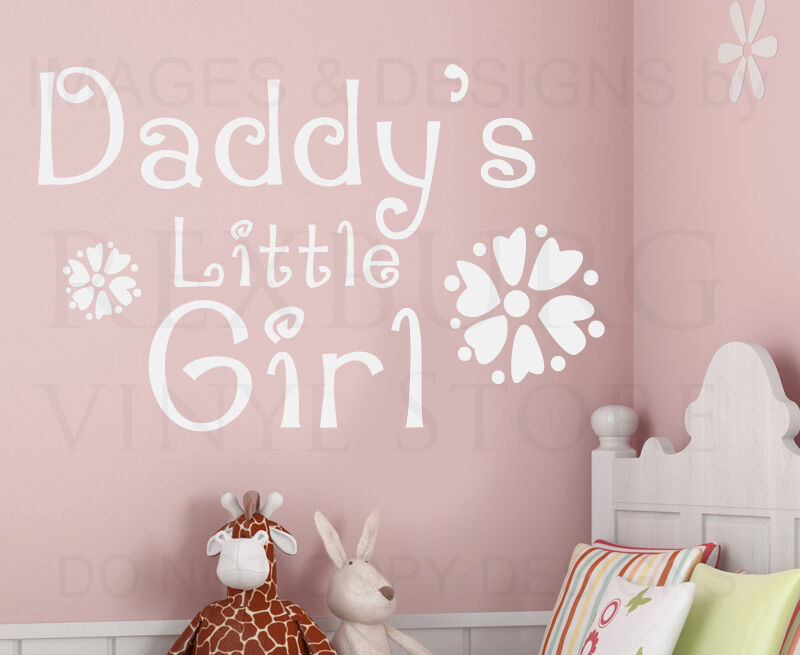 Quotes About Daddys Little Girl: Wall Decal Art Sticker Quote Vinyl Daddy's Little Girl