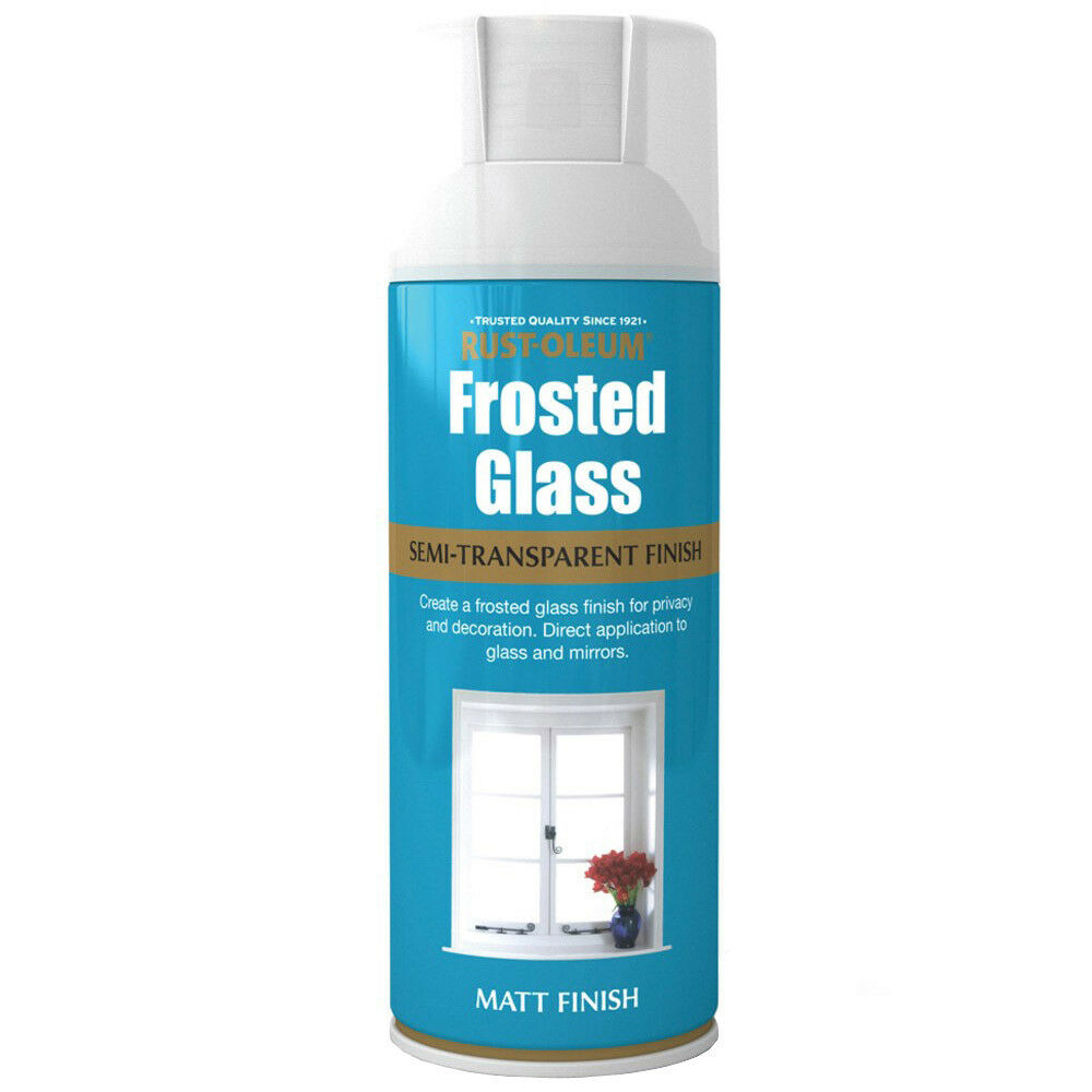rust oleum frosted window glass effect spray paint 400ml frosting. Black Bedroom Furniture Sets. Home Design Ideas